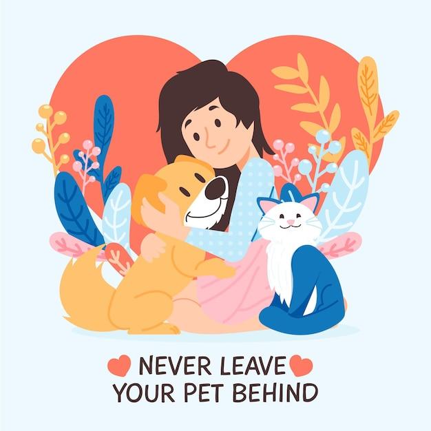 Nigdy Nie Zostawiaj Swojego Zwierzaka Za Sobą Darmowych Wektorów
