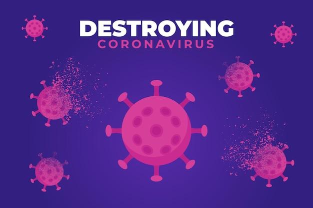 Niszczenie Tła Koronawirusa Darmowych Wektorów