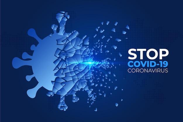 Niszczenie Tła Koronawirusa Premium Wektorów