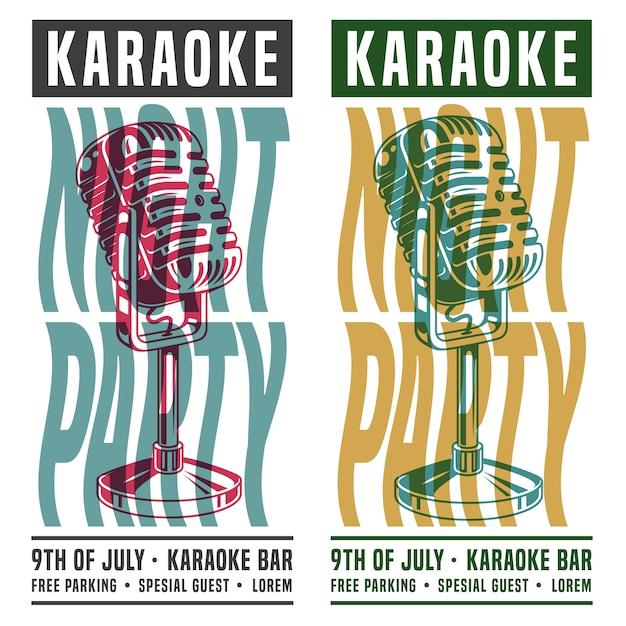 Noc Karaoke Darmowych Wektorów