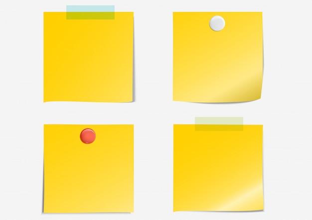 Notatka Pocztowa Ciemnożółta Papierowa Taśma Klejąca Premium Wektorów