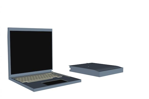 Notatnik komputerowy Premium Wektorów