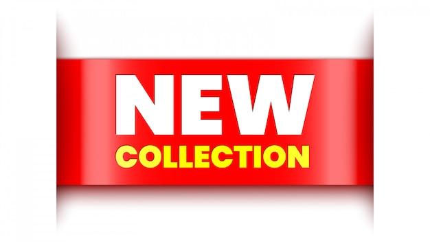 Nowa Kolekcja Czerwona Wstążka Premium Wektorów