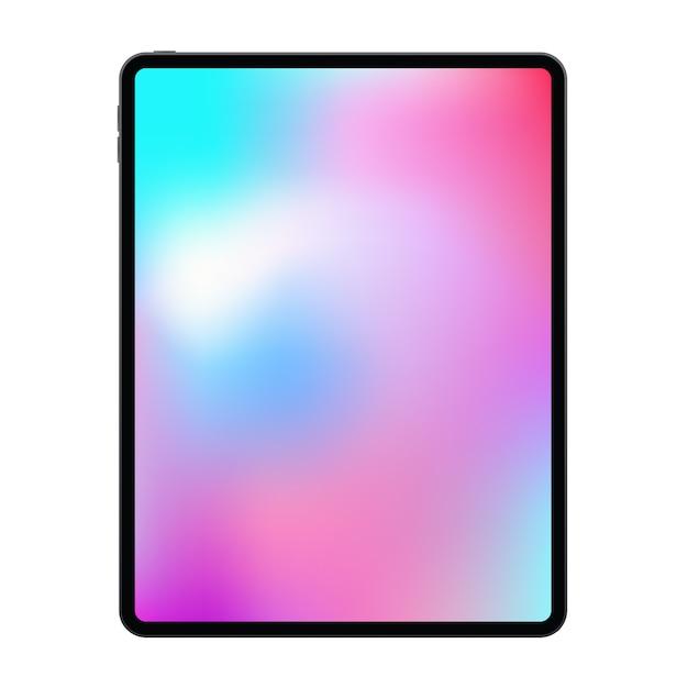 Nowa Wersja Realistycznego Bezramkowego Tabletu Premium Z Modną Cienką Ramką. Premium Wektorów