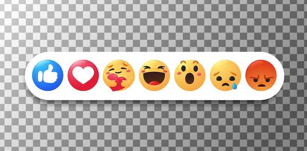 Nowe Emotikony Na Facebooku. Kciuk I Twarz, Które Pokazują Emocje Podczas Ostrożnego Przytulania. Premium Wektorów