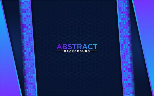 Nowoczesna Abstrakcyjna Niebieska Technika Z Ciemnoniebieskim Tłem Premium Wektorów