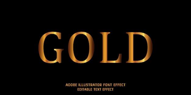 Nowoczesna Czcionka Alfabetu Złoty Efekt Stylu Tekstu Edytowalny Premium Wektorów