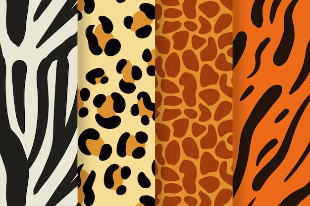 Nowoczesna Kolekcja Wzorów Zwierzęcych Darmowych Wektorów