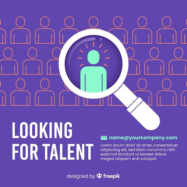 Nowoczesna Kompozycja Do Wyszukiwania Talentów Premium Wektorów