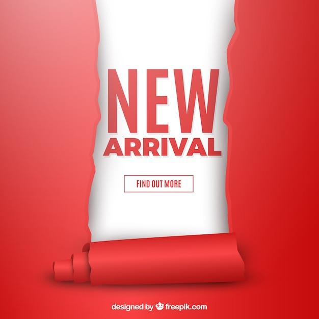 Nowoczesna Kompozycja New Arrival Z Realistycznym Designem Premium Wektorów
