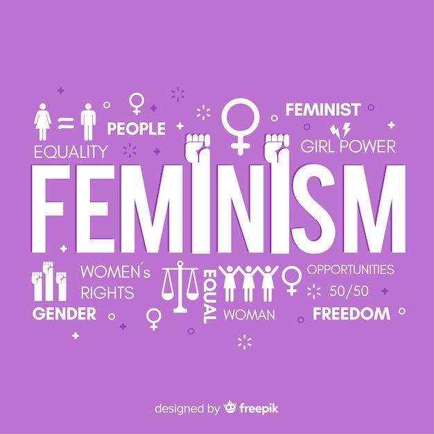 Nowoczesna Koncepcja Feminizmu Z Płaską Konstrukcją Darmowych Wektorów
