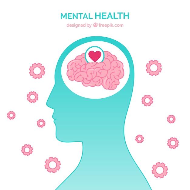 Nowoczesna Koncepcja Zdrowia Psychicznego Z Płaskiej Konstrukcji Darmowych Wektorów