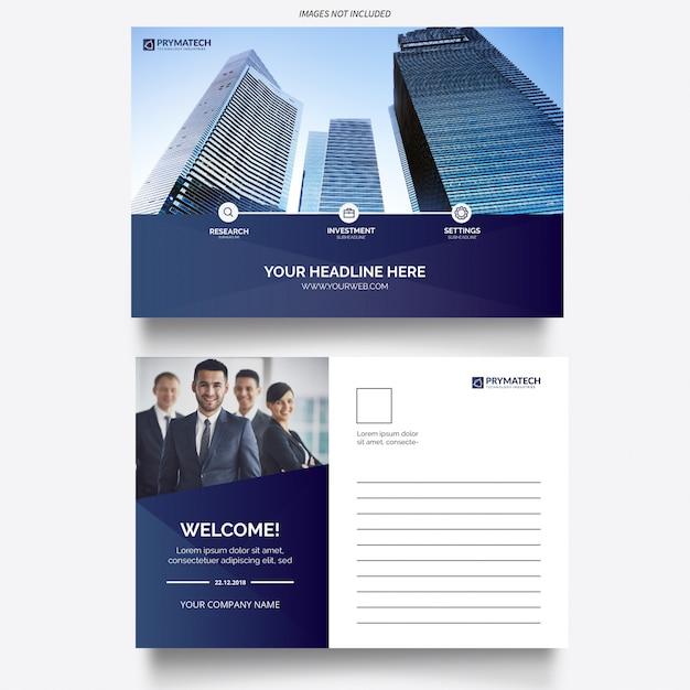 Nowoczesna korporacyjna karta biznesowa Darmowych Wektorów