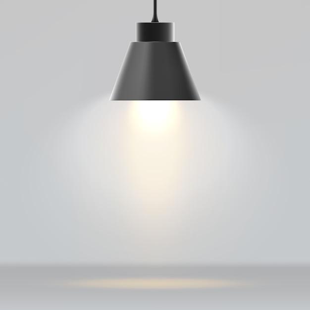 Nowoczesna lampa realistyczna Premium Wektorów
