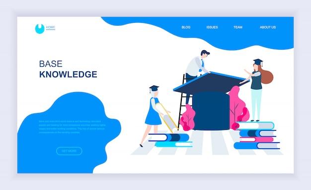 Nowoczesna płaska koncepcja wiedzy bazowej Premium Wektorów