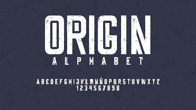 Nowoczesna Typografia Z Efektem Przetarcia Premium Wektorów