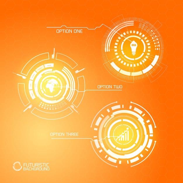 Nowoczesna Wirtualna Grafika Futurystyczna Darmowych Wektorów