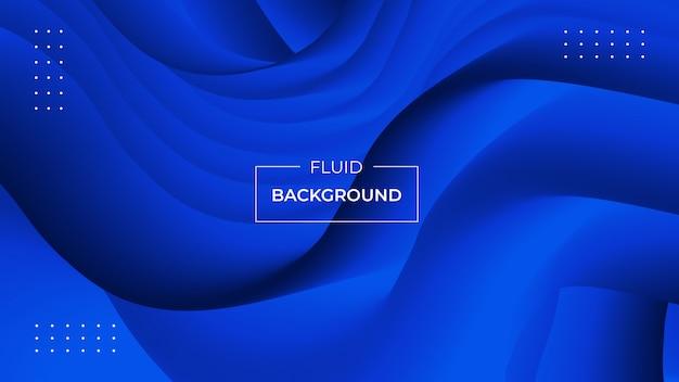 Nowoczesne abstrakcyjne tło z płynnych kształtów 3d Premium Wektorów