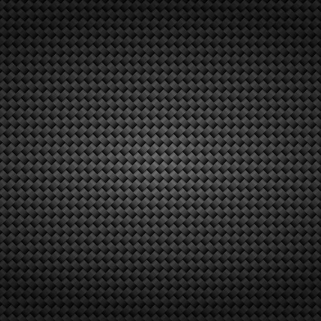 Nowoczesne Ciemne Czarne Tło Siatki Z Włókna Węglowego. Premium Wektorów
