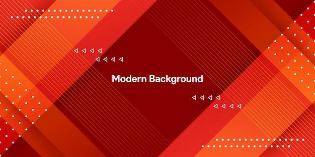 Nowoczesne Czerwone Geometryczne Z Kolorowym Tłem Gradientu Premium Wektorów