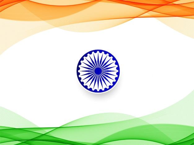 Nowoczesne faliste indian wzór tła Premium Wektorów