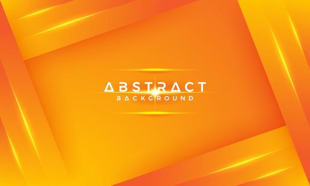 Nowoczesne geometryczne tła z mieszaniną żółtego i pomarańczowego. Premium Wektorów