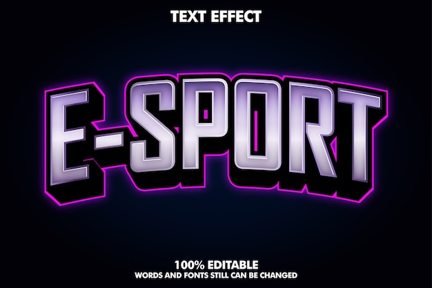 Nowoczesne Logo E-sportu Z Fioletowym światłem Darmowych Wektorów