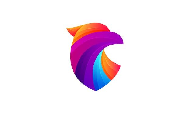 Nowoczesne Logo Gradient Kolorowe Eagle Premium Wektorów
