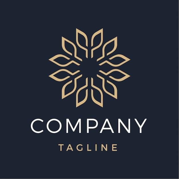 Nowoczesne logo luksusowe streszczenie kwiat Premium Wektorów