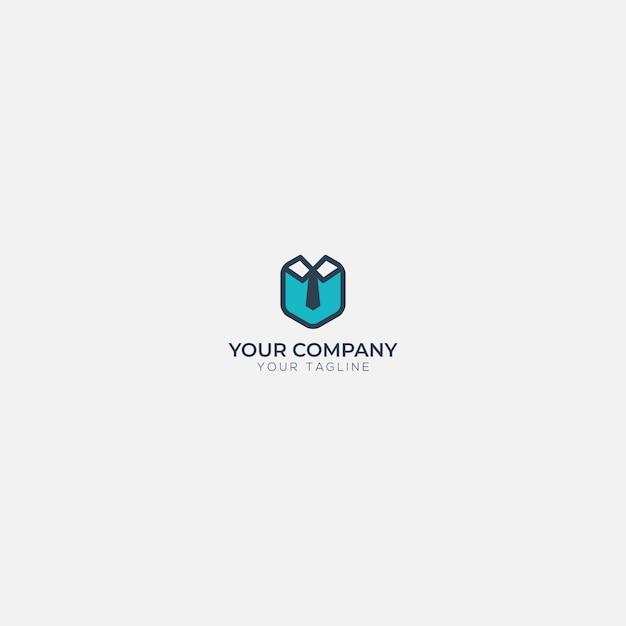 Nowoczesne Logo Modne Krawiec Blue Uniform Premium Wektorów
