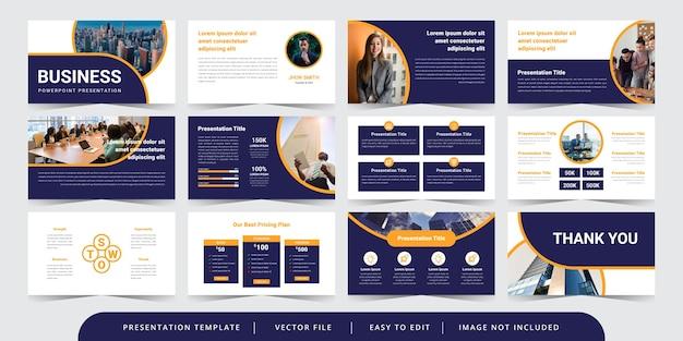 Nowoczesne Okrągłe Slajdy Biznesowe Edytowalny Szablon Prezentacji Powerpoint Premium Wektorów