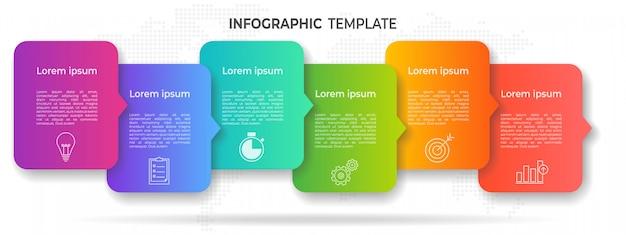 Nowoczesne opcje infografiki timelline lub krok. Premium Wektorów