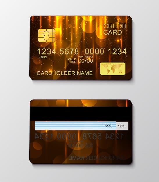 Nowoczesne realistyczne symbol płatności kartą kredytową. Premium Wektorów
