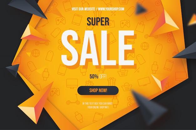 Nowoczesne Super Sprzedaż Pomarańczowe Tło Z Ikonami Darmowych Wektorów