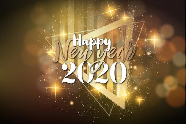 Nowoczesne szczęśliwego nowego roku tło z luksusową ramą Darmowych Wektorów