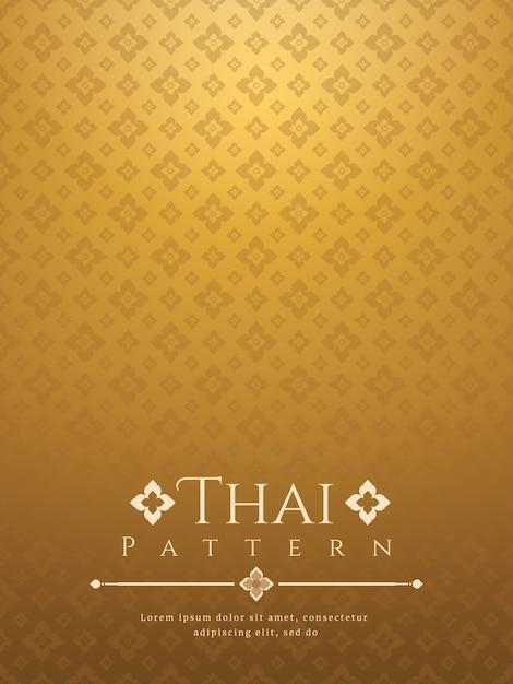 Nowoczesne Tajskie Tło Premium Wektorów
