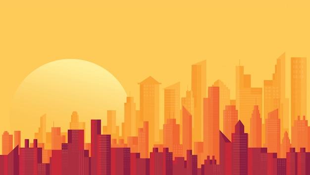 Nowoczesne tła panoramę miasta Premium Wektorów