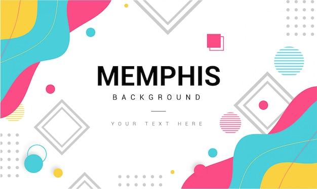 Nowoczesne Tło Memphis Z Elementami Darmowych Wektorów
