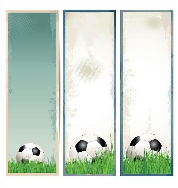 Nowoczesne tło piłki nożnej Premium Wektorów