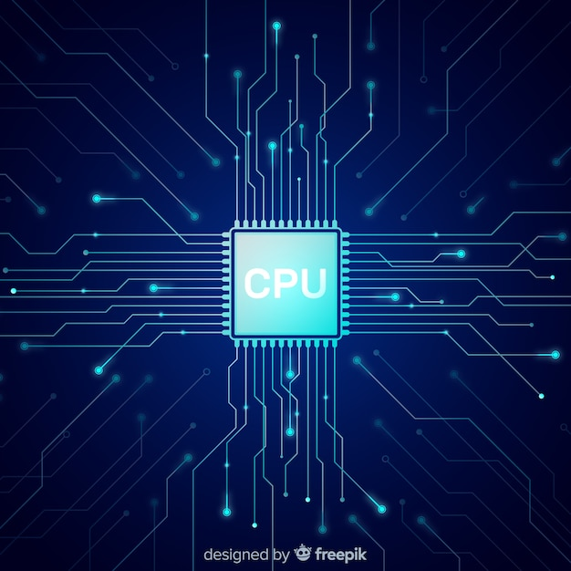 Nowoczesne Tło Procesora W Stylu Gradientu Premium Wektorów