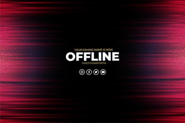 Nowoczesne Tło Twitch Z Abstrakcyjnymi Czerwonymi Liniami Offline Darmowych Wektorów