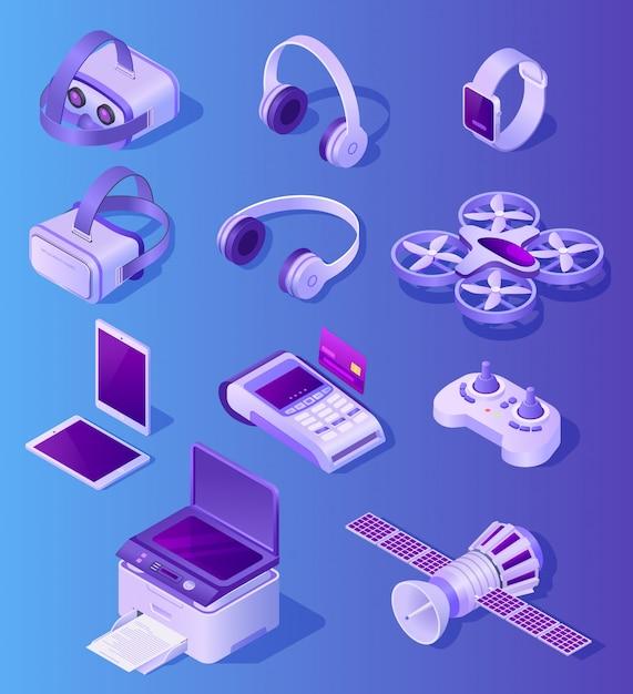 Nowoczesne urządzenia elektroniczne realistyczny wektor zestaw Premium Wektorów