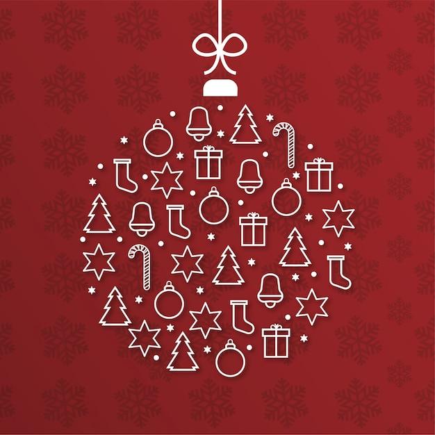 Nowoczesne wesołe kartki świąteczne w kształcie kuli Darmowych Wektorów