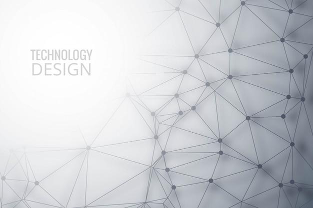 Nowoczesne Wielokąt Technologia Tło Darmowych Wektorów