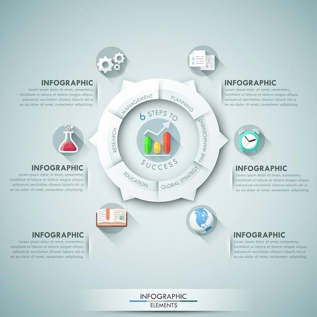 Nowoczesny baner opcje infografiki Premium Wektorów