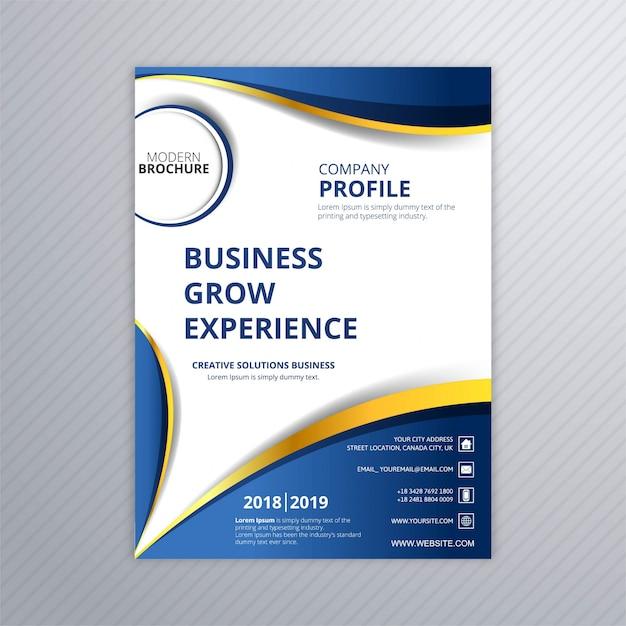 Nowoczesny biznes broszura kreatywny szablon fala projekt Darmowych Wektorów