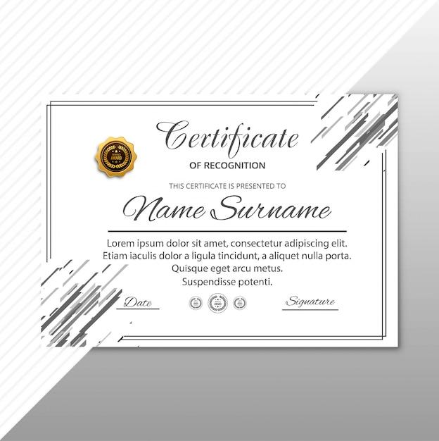 Nowoczesny certyfikat szablon geometryczny tło Darmowych Wektorów