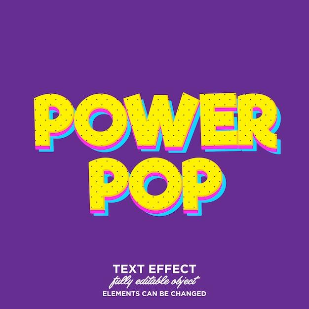 Nowoczesny efekt pop-artu kreskówka dla niektórych produktów lub tytułów Premium Wektorów