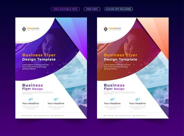 Nowoczesny I Kreatywny Projekt Ulotki Biznesowej Premium Wektorów