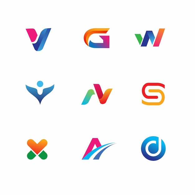 Nowoczesny i minimalistyczny szablon logo Premium Wektorów
